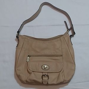 b.o.c Born Concept Leather Creme Shoulder Bag